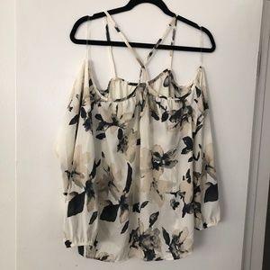 charlotte russe floral cold shoulder top